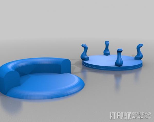 圆椅 3D模型  图3