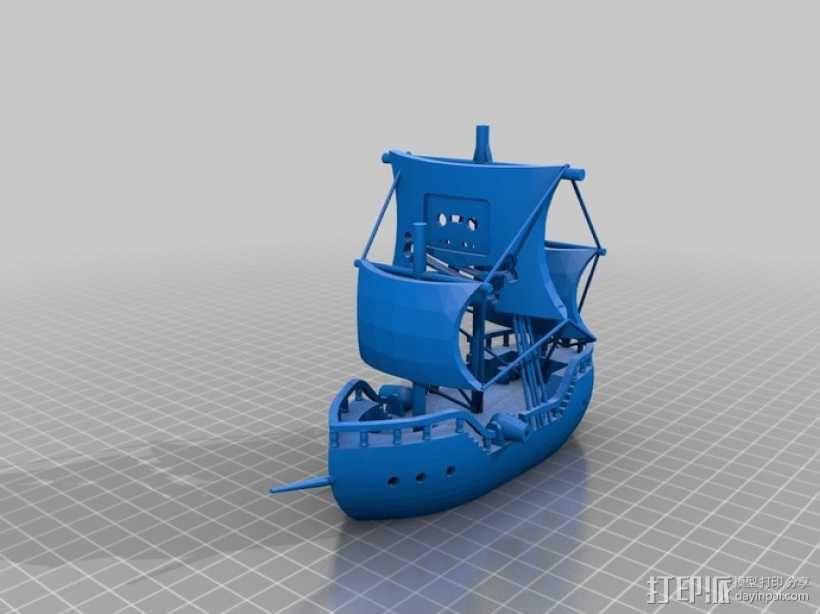 海盗船 帆船 3D模型  图1