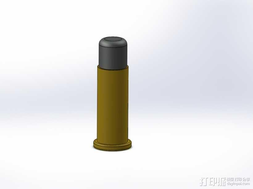 底缘底火式子弹 3D模型  图1