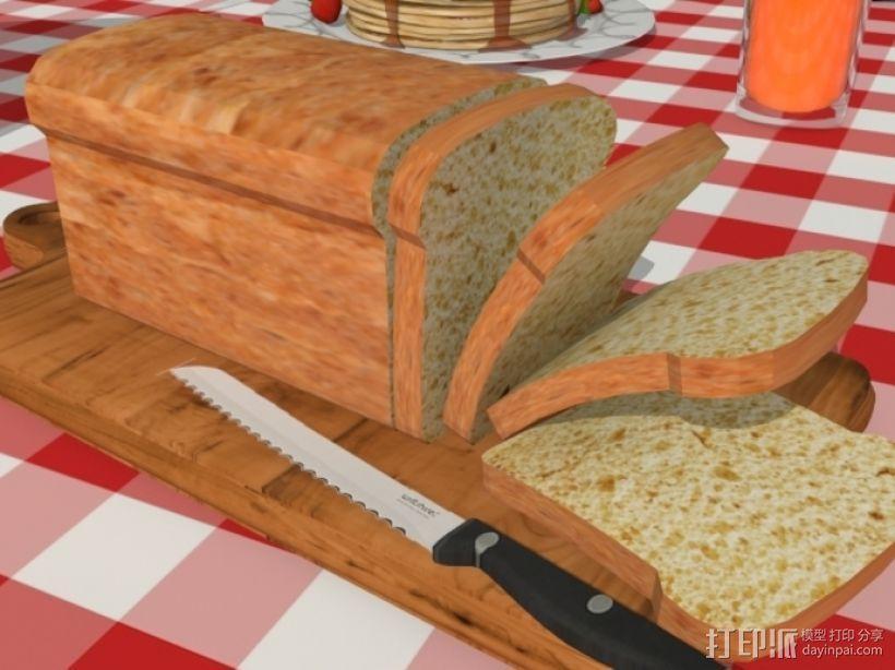 面包 方包 3D模型  图1
