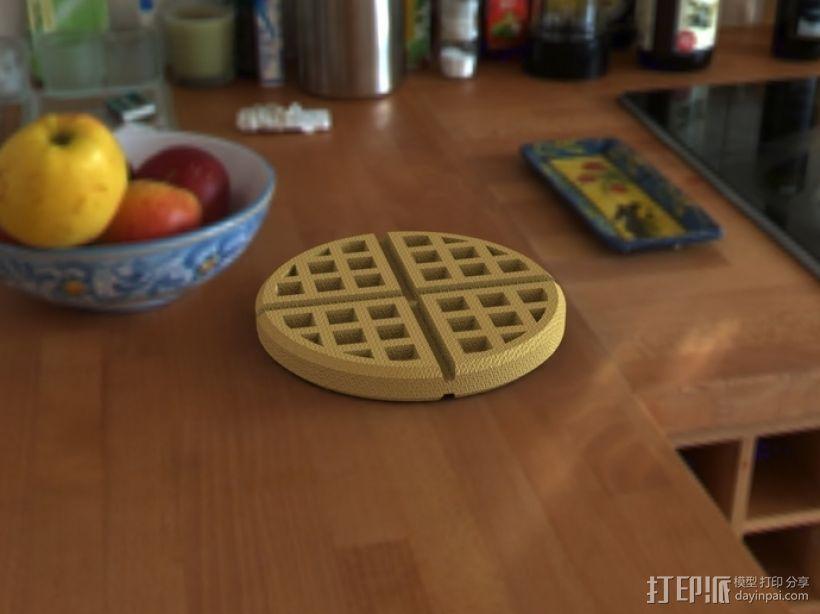 华夫饼干 3D模型  图1