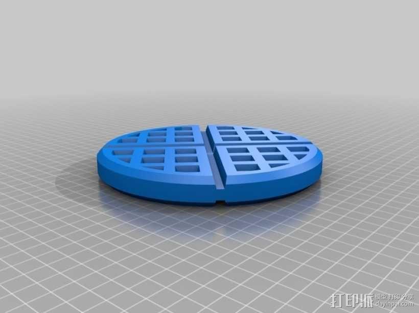 华夫饼干 3D模型  图2