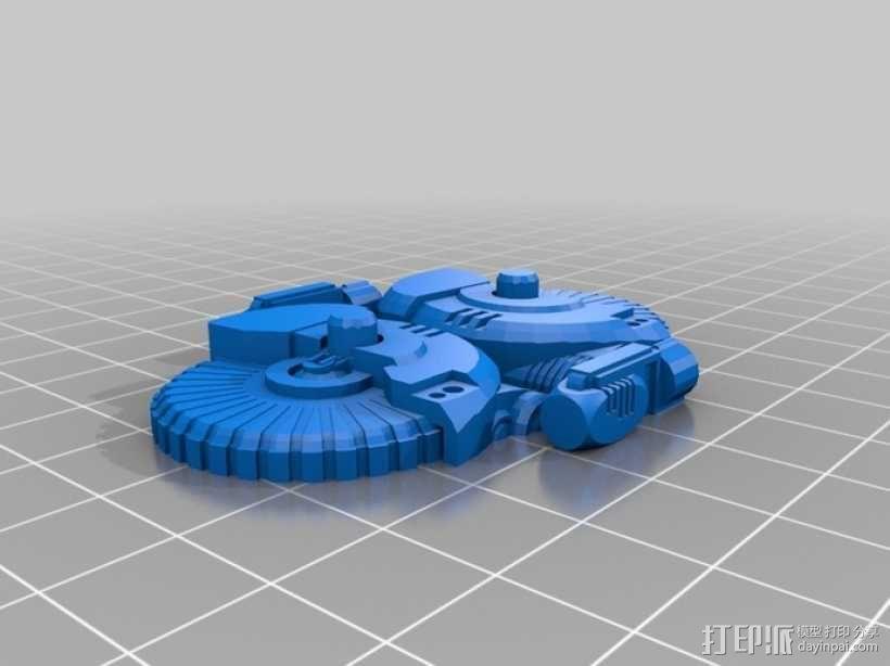 游戏造型 机械轮炮车 3D模型  图5