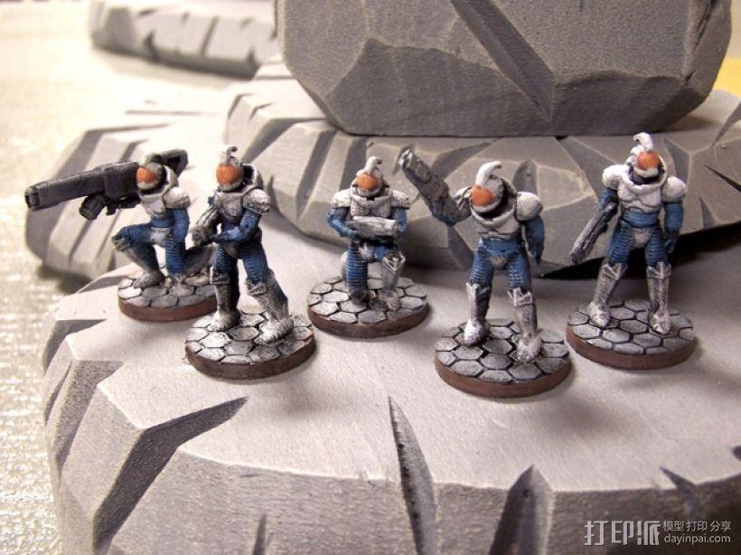 游戏造型 战士 3D模型  图1