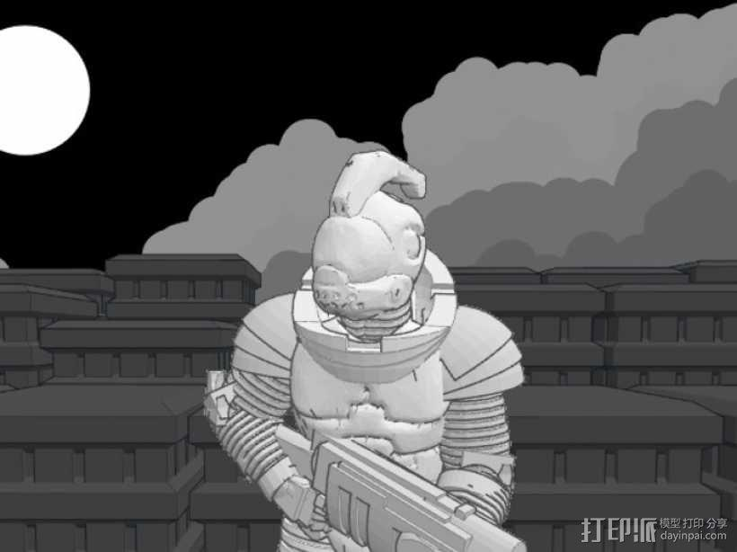 游戏造型 战士 3D模型  图4