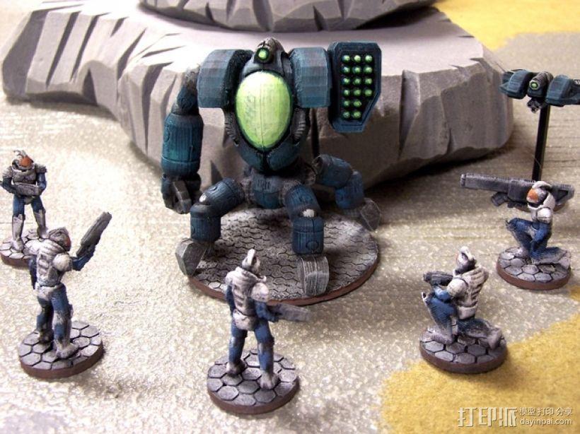 游戏造型 战士 3D模型  图3