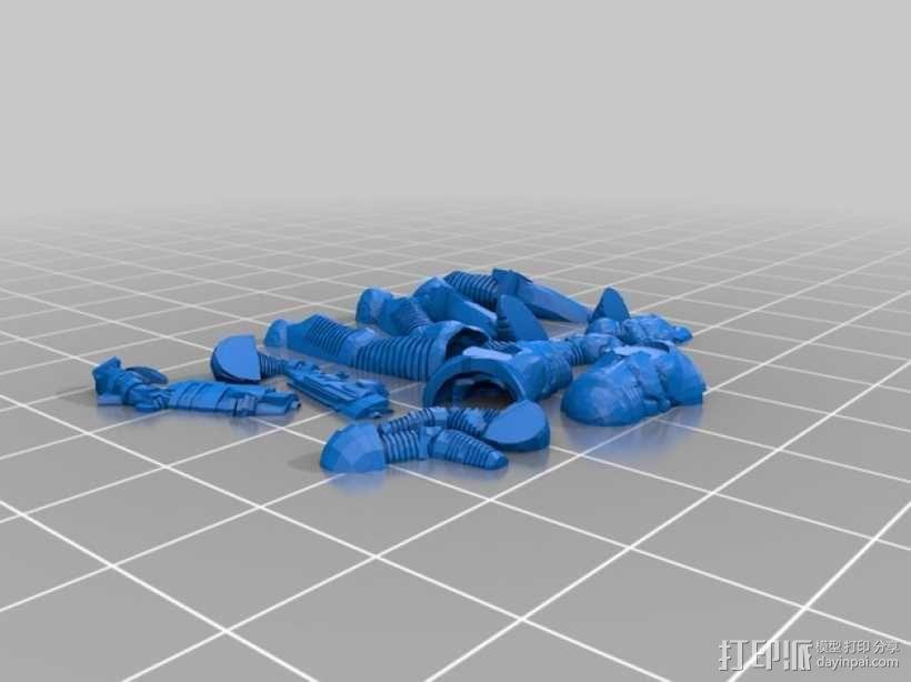 游戏造型 战士 3D模型  图7