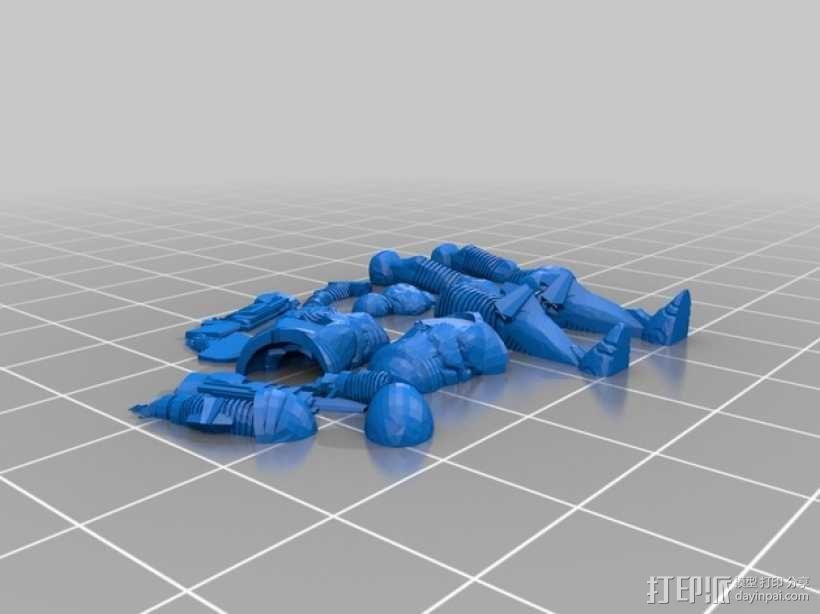 游戏造型 战士 3D模型  图9