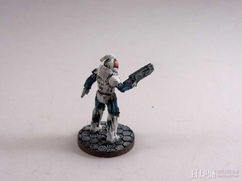 游戏造型 战士 3D模型  图16