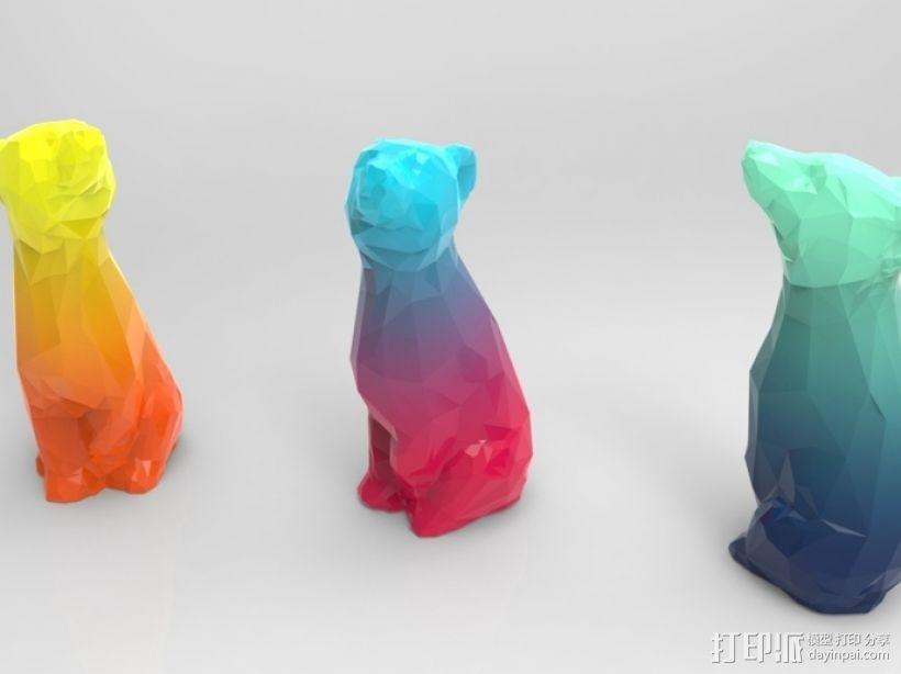 渐变色小熊 3D模型  图1