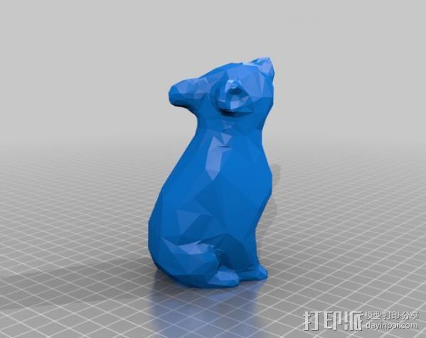 渐变色小熊 3D模型  图2