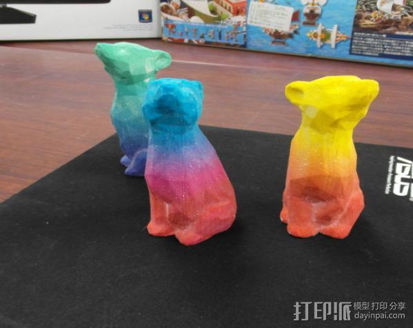 渐变色小熊 3D模型  图5