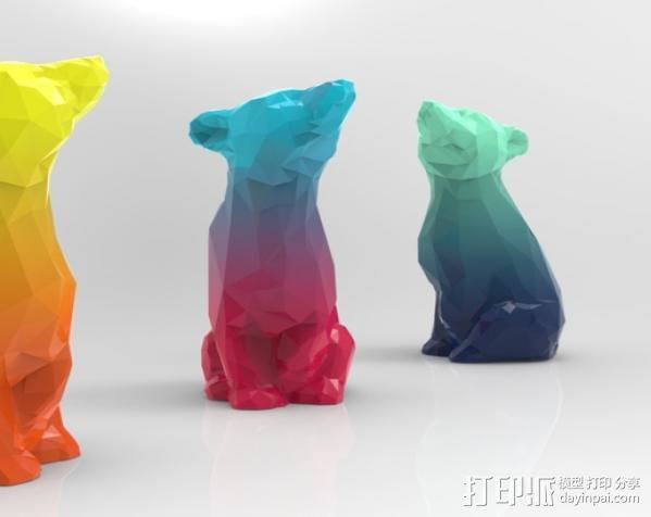 渐变色小熊 3D模型  图4