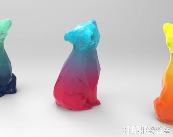 渐变色小熊 3D模型  图3