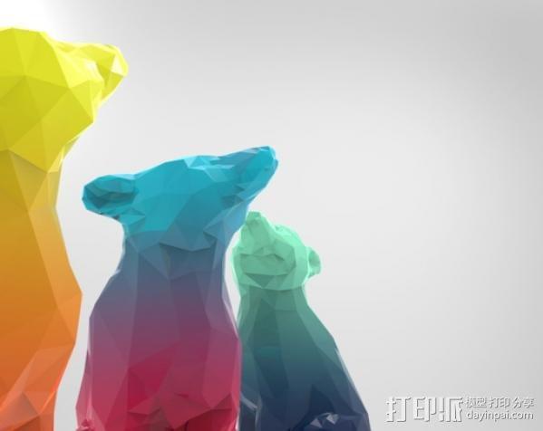 渐变色小熊 3D模型  图11