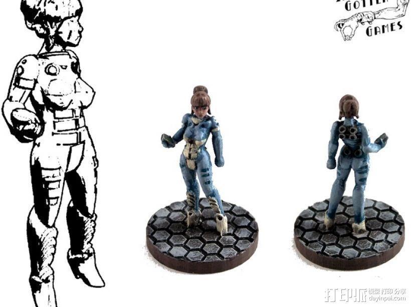 游戏造型Alexandra Pryce 3D模型  图1