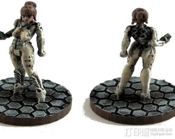 游戏造型Alexandra Pryce 3D模型  图3
