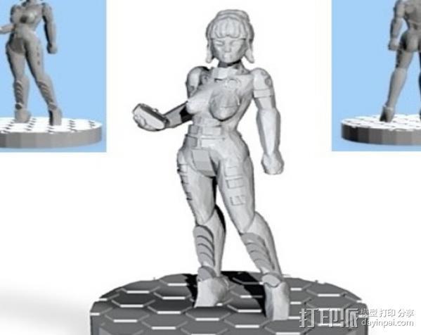 游戏造型Alexandra Pryce 3D模型  图4