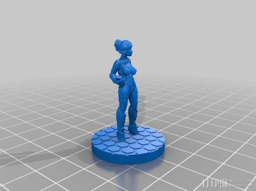 游戏造型Alexandra Pryce 3D模型  图5