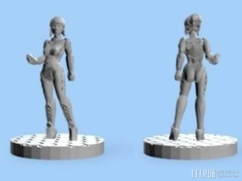 游戏造型Alexandra Pryce 3D模型  图6