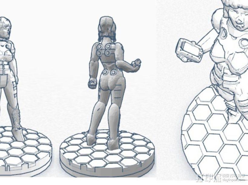 游戏造型Alexandra Pryce 3D模型  图7