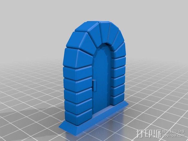 石门 3D模型  图1