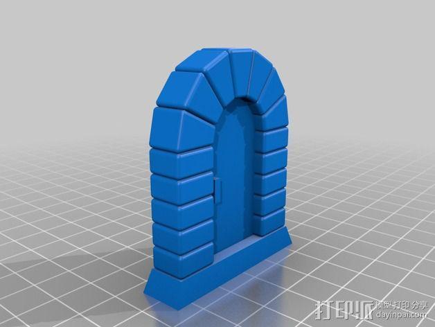 石门 3D模型  图2