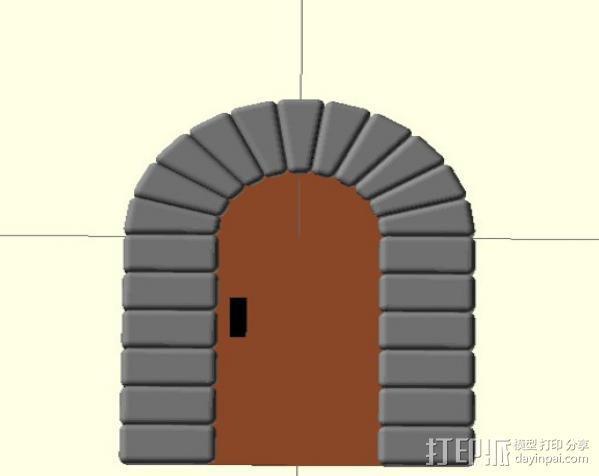 石门 3D模型  图4