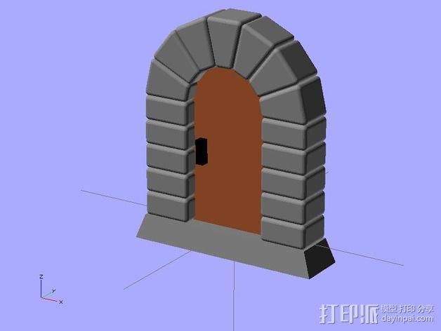 石门 3D模型  图6