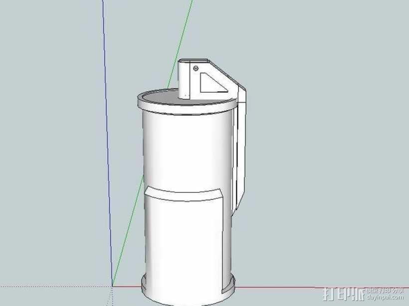 闪光弹 3D模型  图1