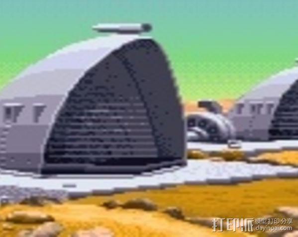 贝壳形风力发电站 3D模型  图3
