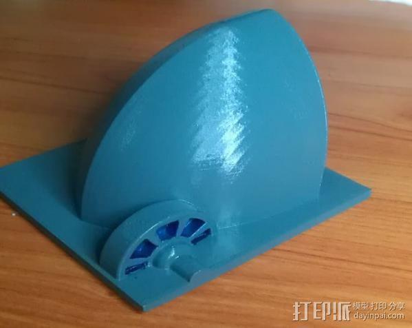 贝壳形风力发电站 3D模型  图2