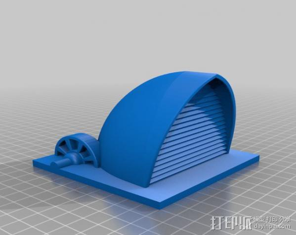 贝壳形风力发电站 3D模型  图4