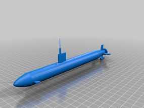 核动力攻击潜艇 3D模型
