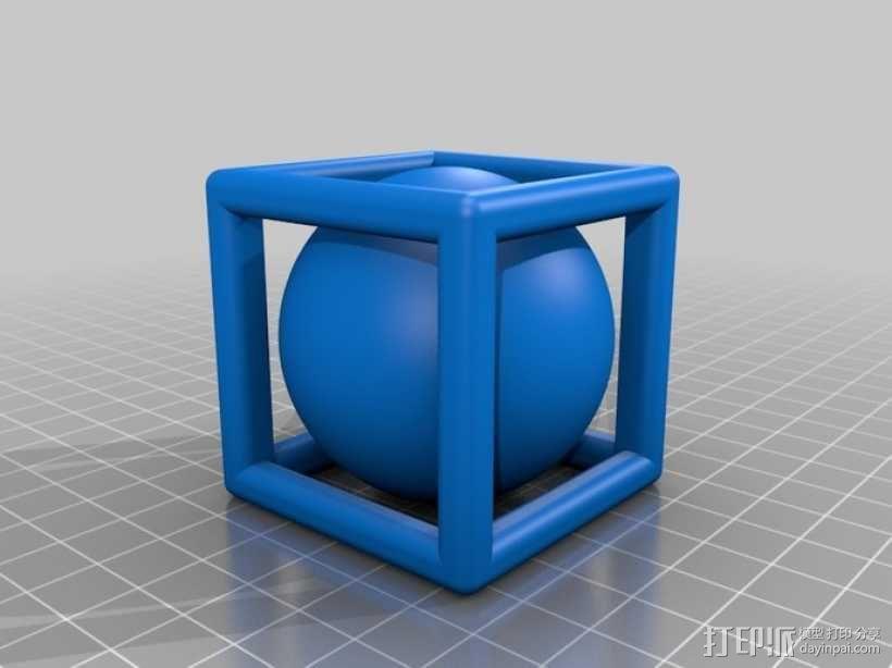 线性正方体 小球 3D模型  图1