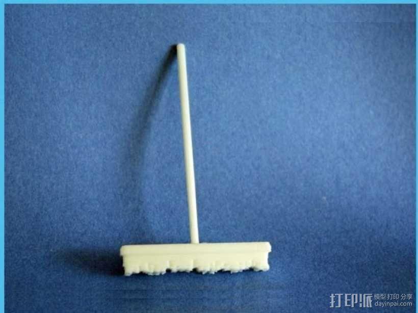 扫帚 洗车扫帚 3D模型  图1