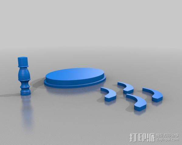维多利亚茶几 3D模型  图2