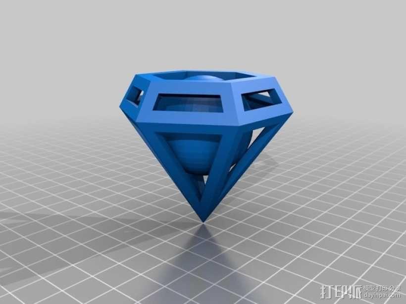 钻石 小球 3D模型  图2