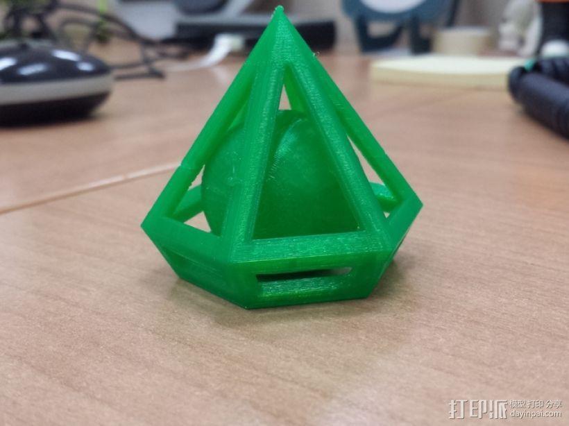 钻石 小球 3D模型  图1