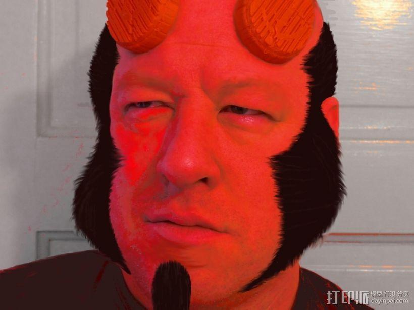 地狱男爵的角 3D模型  图1