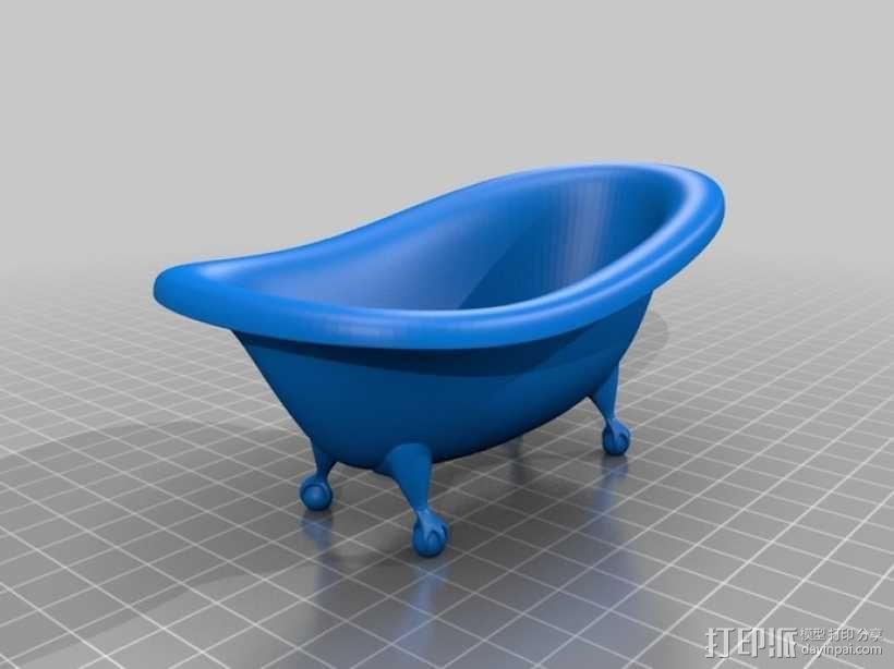 浴缸 3D模型  图1