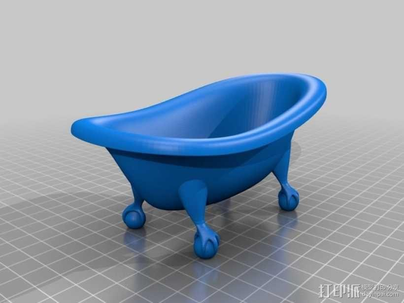 浴缸 3D模型  图2