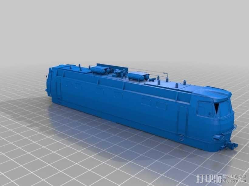 CHS4火车头 3D模型  图1