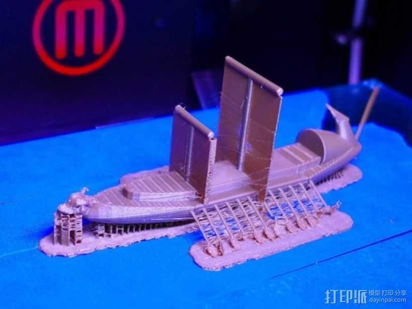 希腊战船Argo II 3D模型  图2