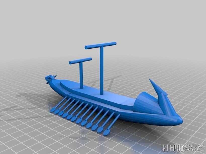 希腊战船Argo II 3D模型  图1