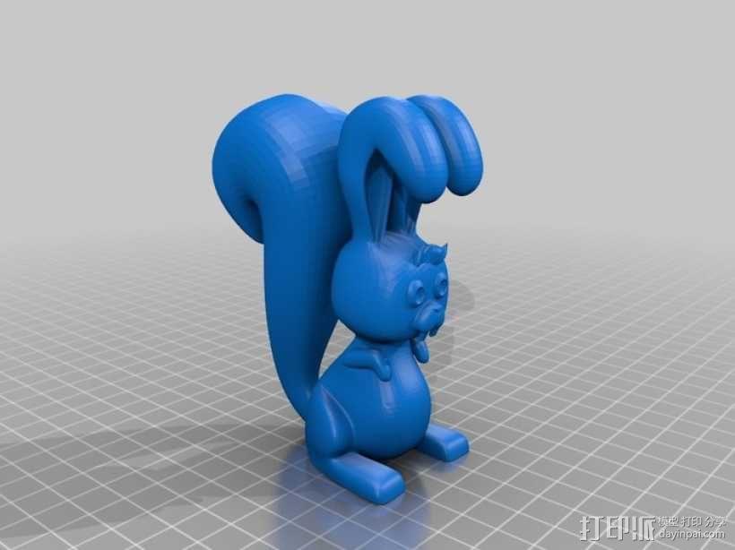 松鼠兔 3D模型  图2