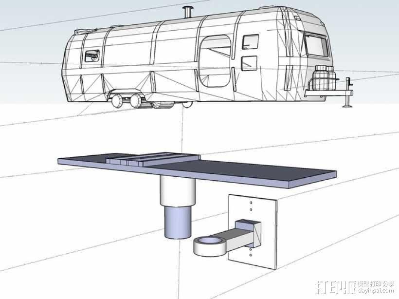 拖车 鸟屋 3D模型  图1
