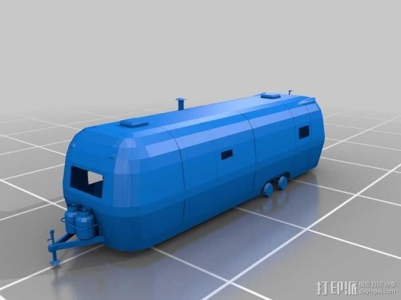 拖车 鸟屋 3D模型  图2
