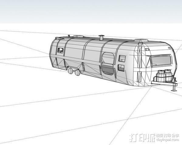 拖车 鸟屋 3D模型  图7