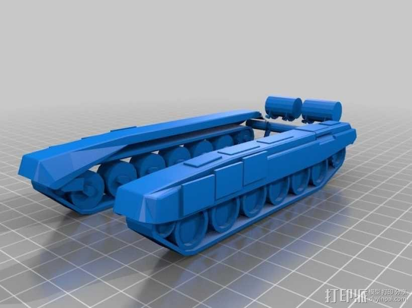 T-90坦克 3D模型  图2